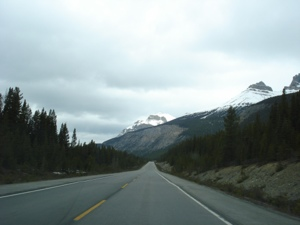 The road out of Jasper